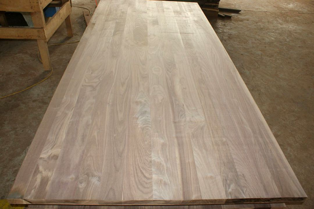 American Black Walnut Full Lamellas Worktops Full Lamellas Countertop  Butcher Block Table Top 4 ...