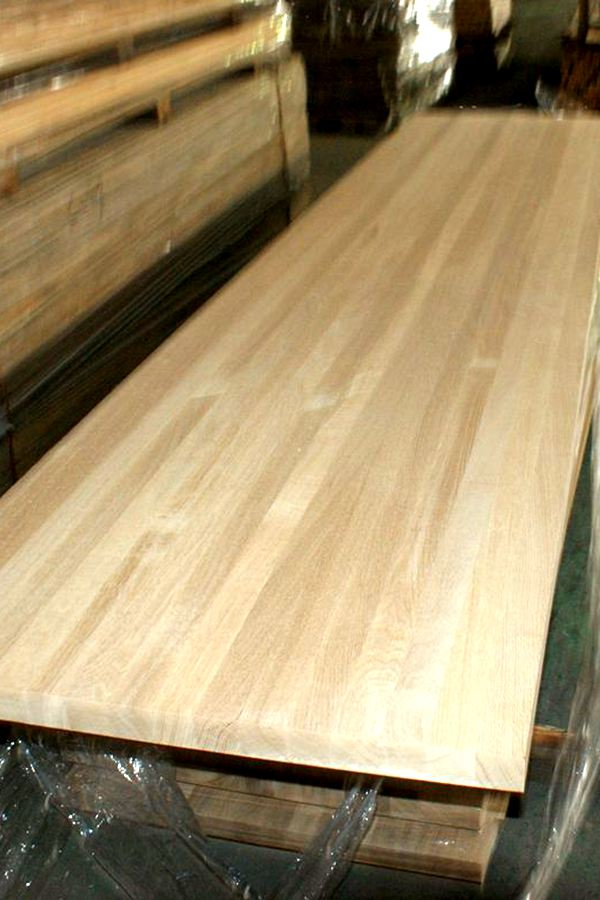 Butcher Block Workbench >> Oak Edge Glued Butcher Block Countertops-Jieke Wood