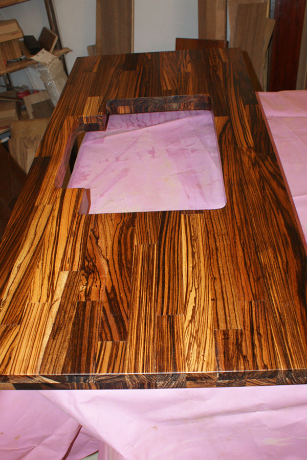 Zebrano Wood Worktops