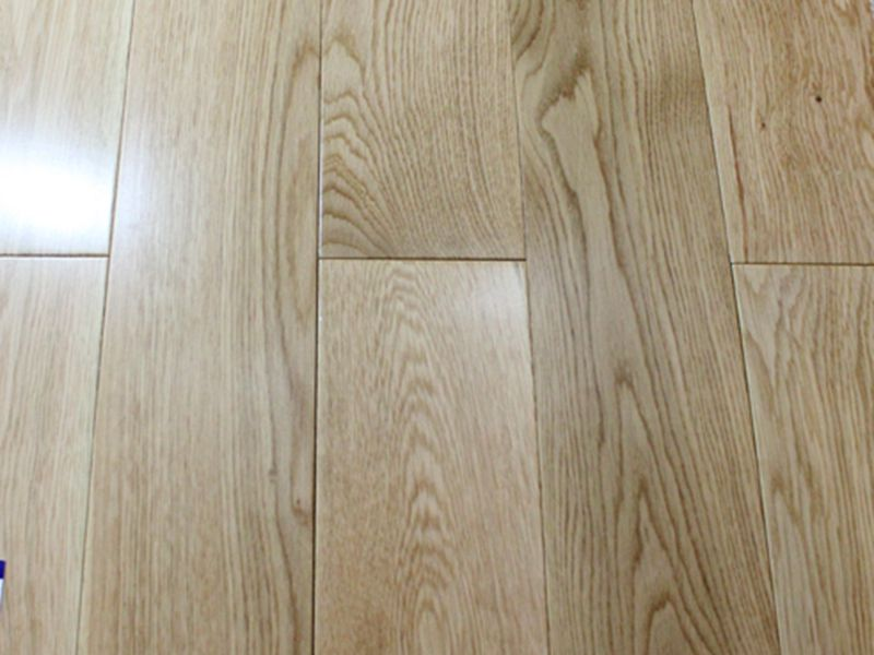 White oak solid wood flooring jieke wood for Unfinished hardwood floors
