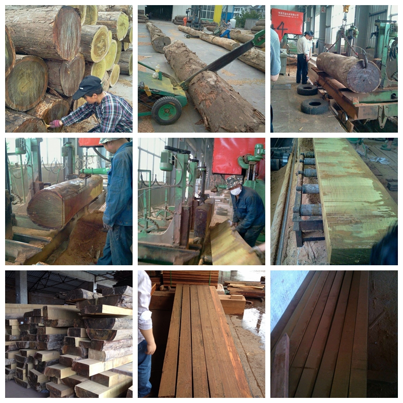 IPE Solid Wood Decking Production