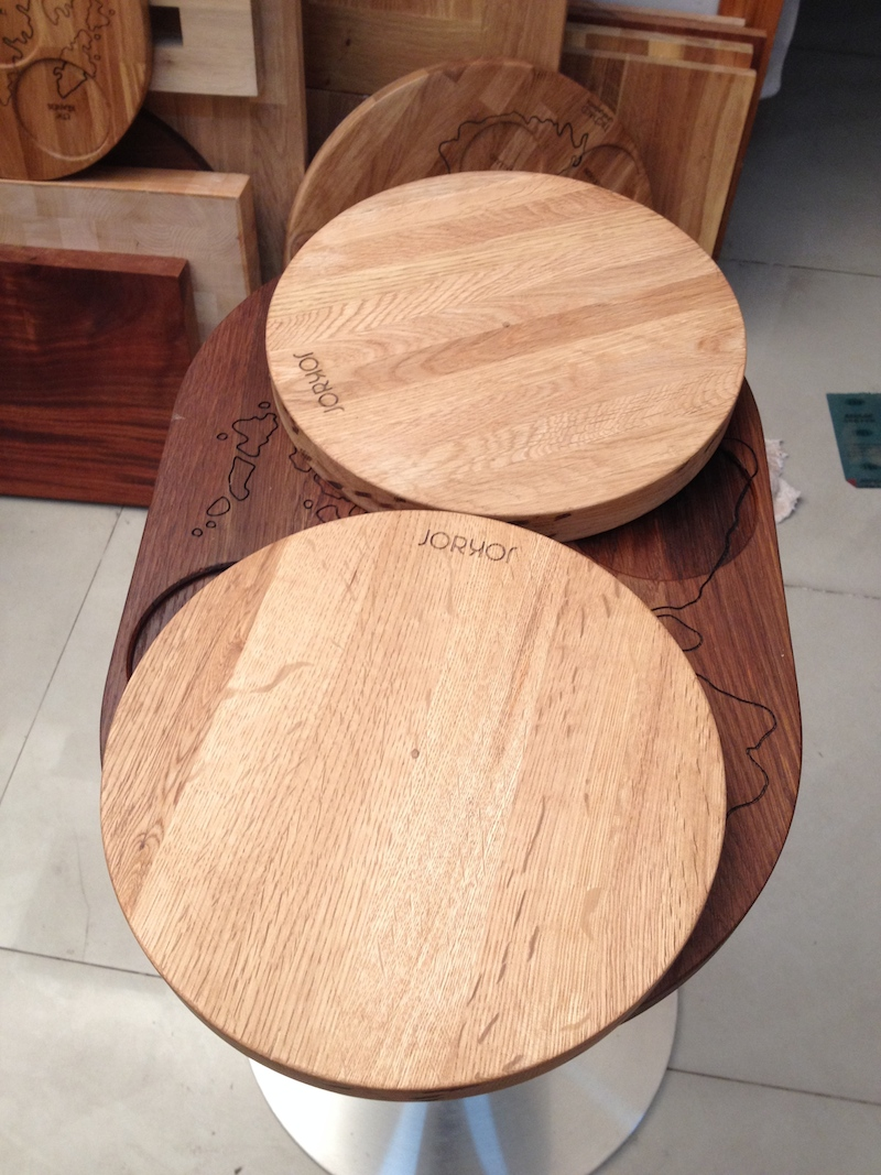Solid wood table tops we produce