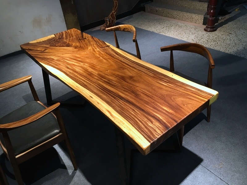 Our Live Edge Wood Table Tops Are Kiln Dried , Controlled Perfectly  Moisture Connect Below 12%, Minimized The Deformation Of The Natural Wood,  ...