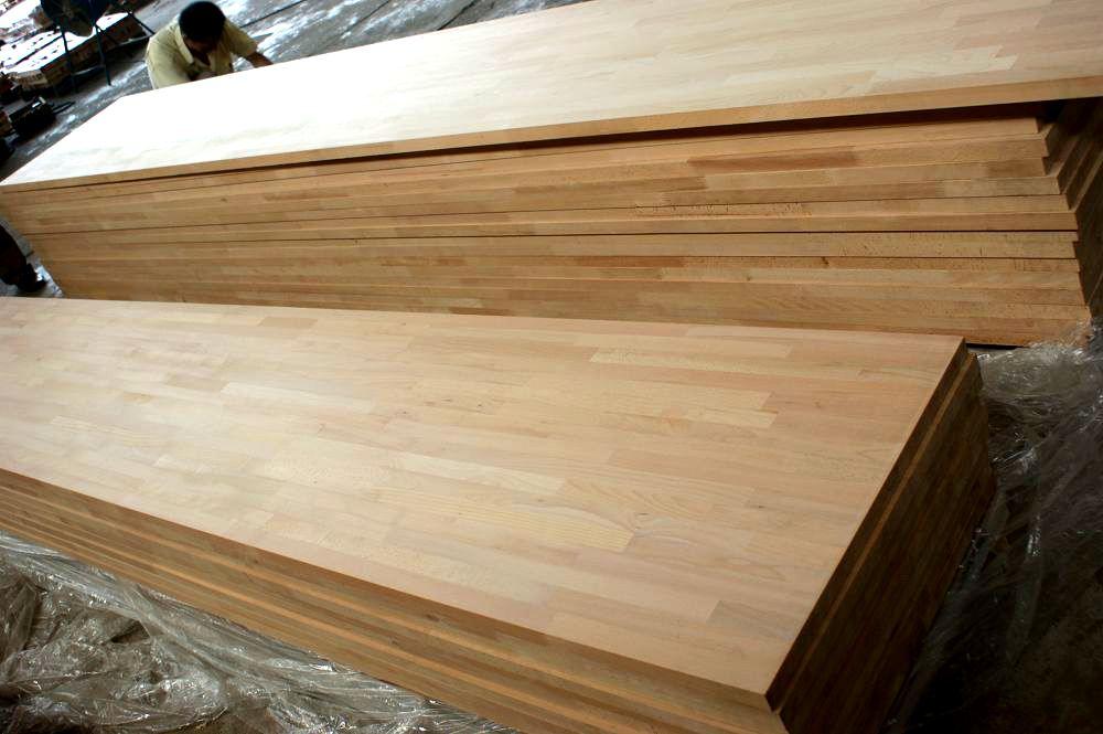 Beech Solid Wood Worktop Countertop Island Top Table Butcher Block Finger Jointed Panels