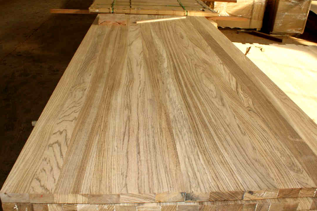Zebra Wood Full Stave Worktops Lamellas Edge Grain Butcher Block Countertops 1