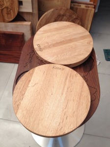 Oak Table and Stools tops Solid Wood Table Tops