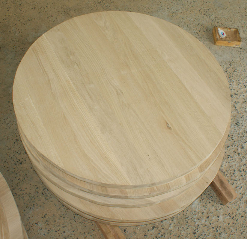 Solid Wood Table Tops From Different Wood Species