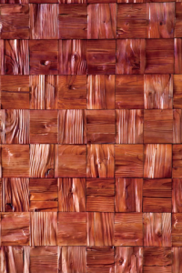 Red Pine 3D Wood Wall Panels