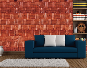 Red Pine 3D Wall Panels view