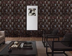 Walnut Stone 3D wall panels view