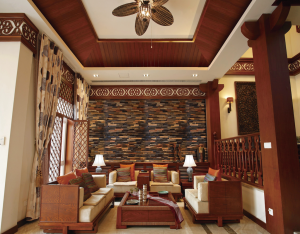 recycled Hardwood 3D Wall Panels view